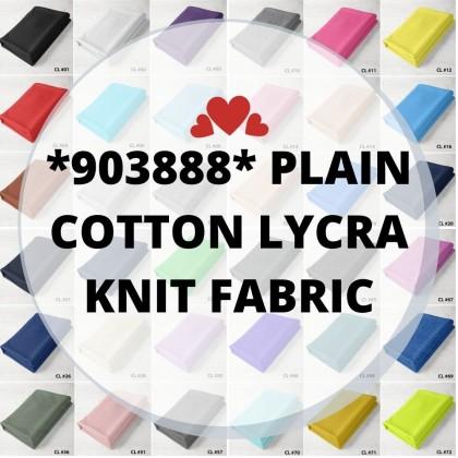 *903888* Lycra Knit: CL Plain Cotton Lycra