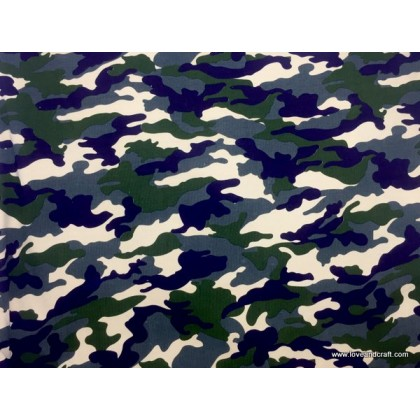 *903236* Lycra Knit: Army Camouflage Green (160cm)